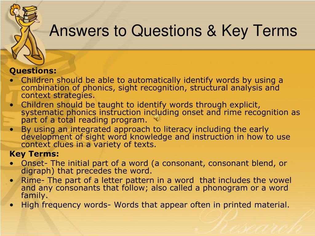 Answers to Questions & Key Terms