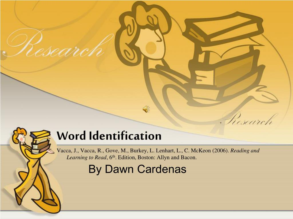 Word Identification