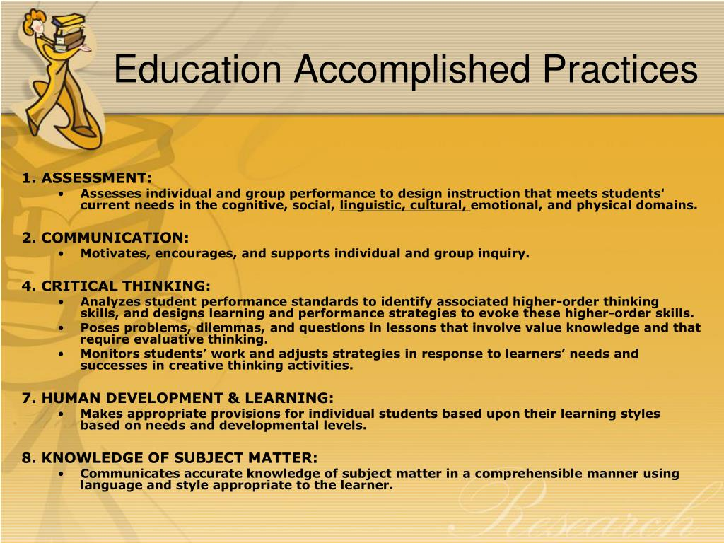 Education Accomplished Practices