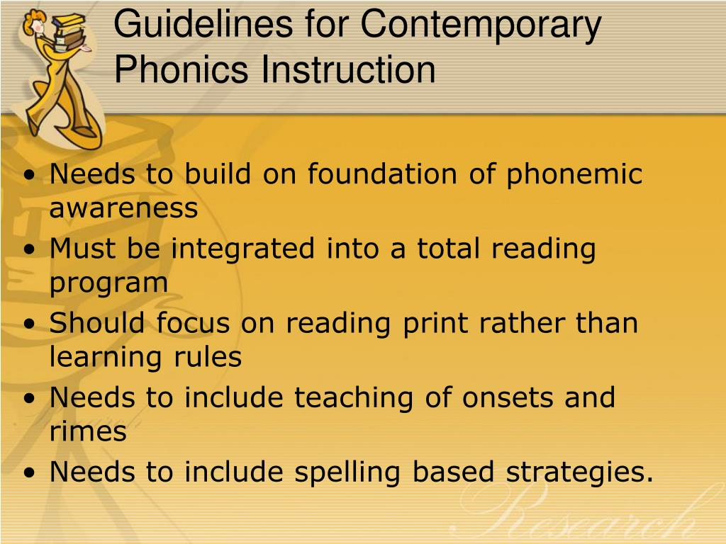 Guidelines for Contemporary Phonics Instruction