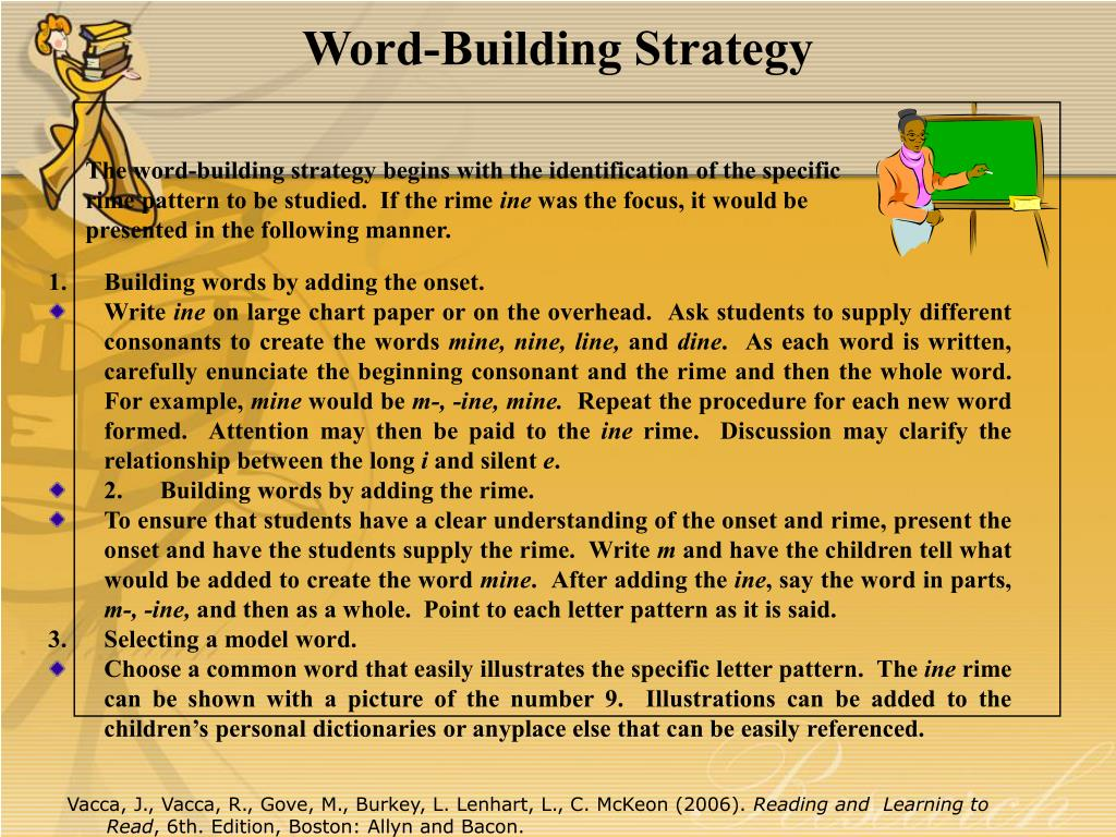 Word-Building Strategy