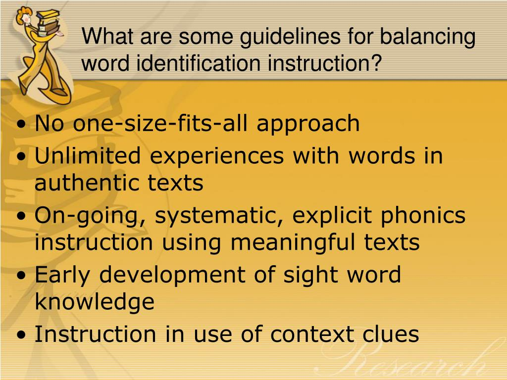 What are some guidelines for balancing word identification instruction?