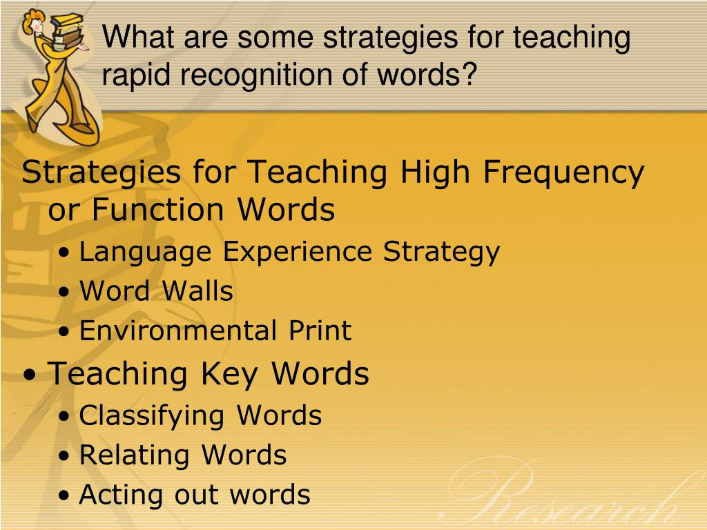 What are some strategies for teaching rapid recognition of words?