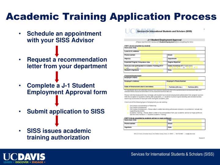Academic Training Application Process