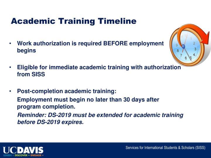 Academic Training Timeline