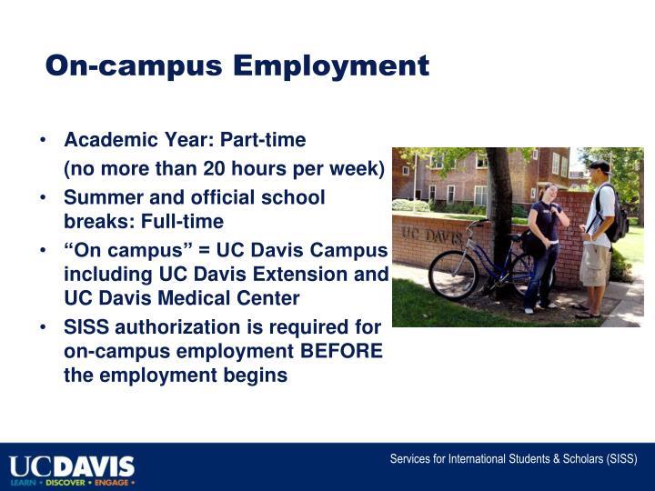 On campus employment