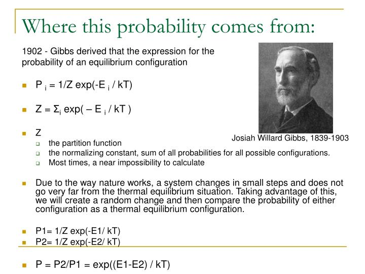 Where this probability comes from: