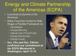 energy and climate partnership of the americas ecpa