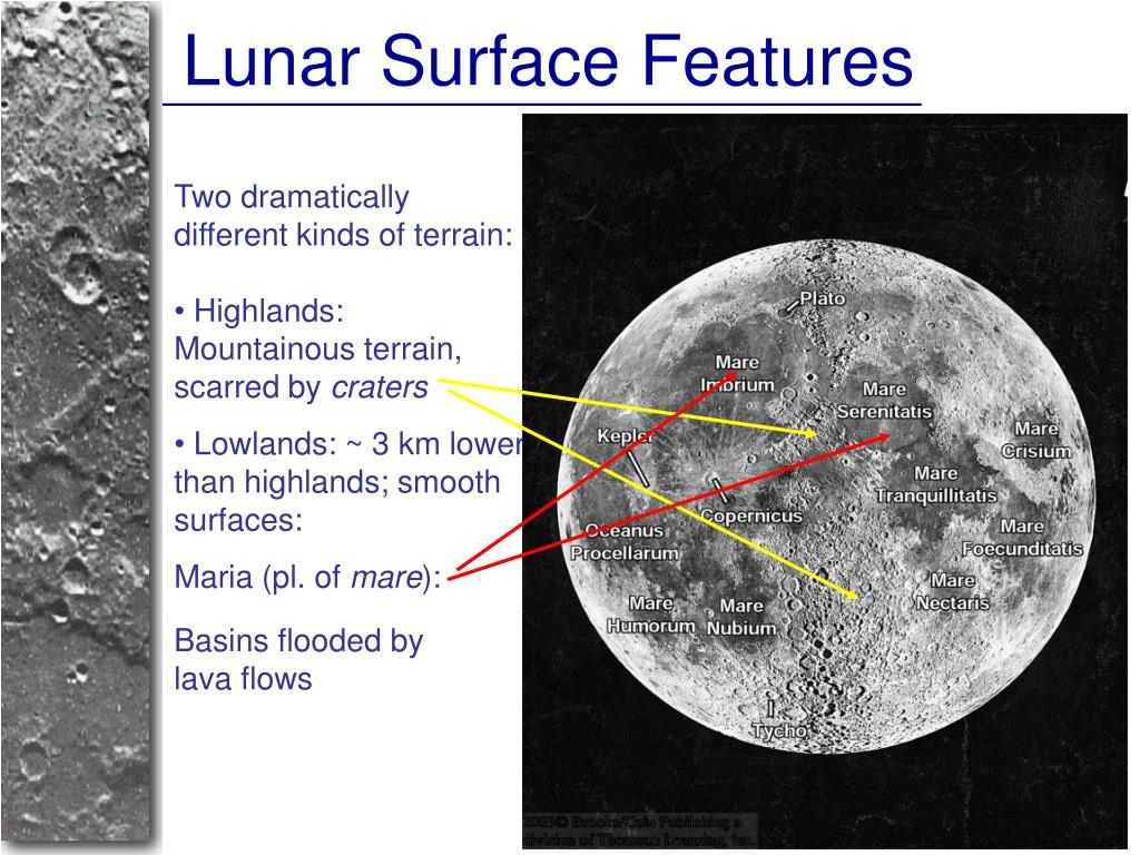 Lunar Surface Features