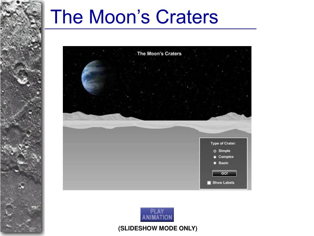 The Moon's Craters
