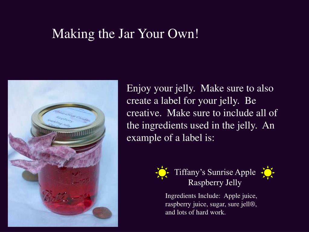Making the Jar Your Own!