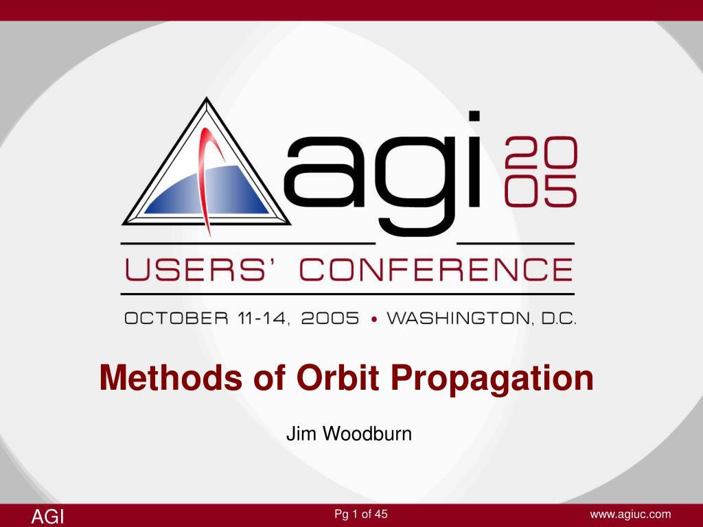methods of orbit propagation l.