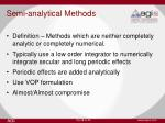 semi analytical methods