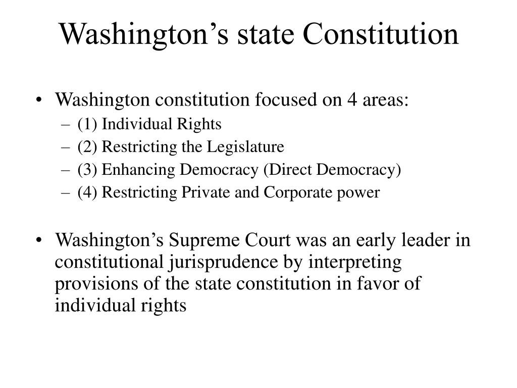 Washington's state Constitution