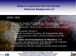 belgium s experience with peer reviews historical background 2
