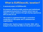 what is eurosocial taxation