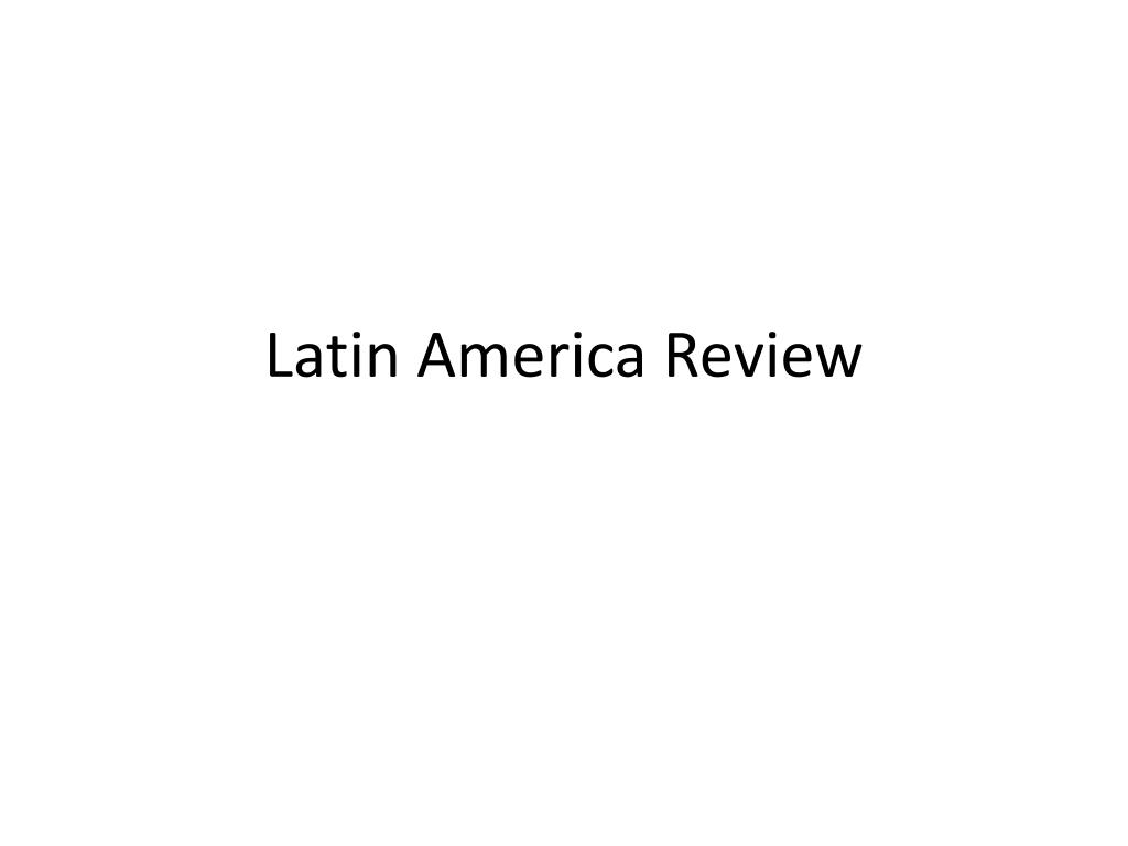 latin america review l.