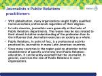 journalists x public relations practitioners