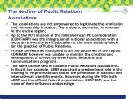 the decline of public relations associations