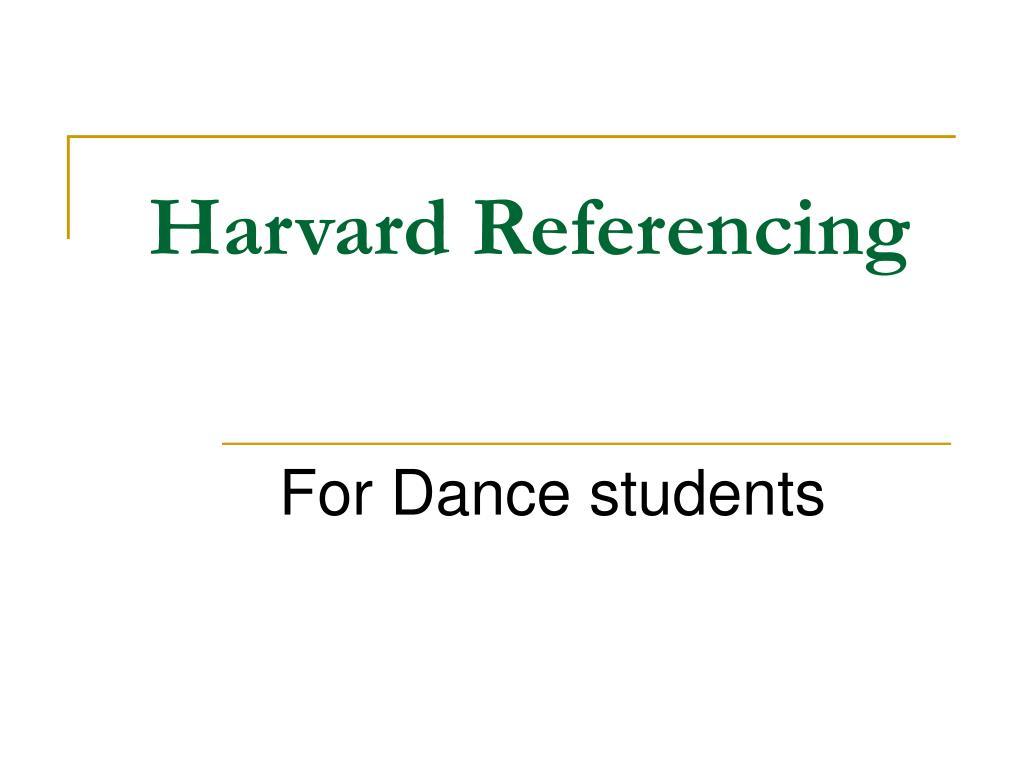 harvard referencing l.