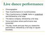live dance performance