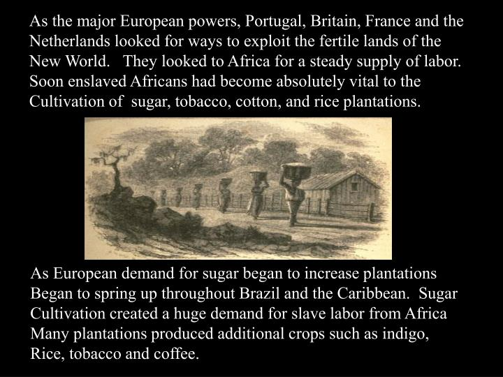As the major European powers, Portugal, Britain, France and the