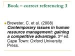 book correct referencing 3