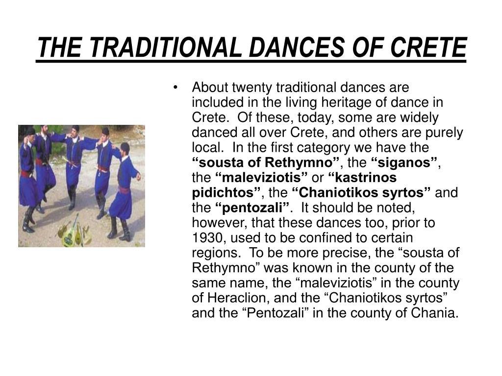 the traditional dances of crete l.