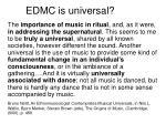 edmc is universal