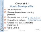 checklist 4 1 how to develop a plan
