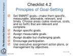 checklist 4 2 principles of goal setting