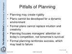 pitfalls of planning
