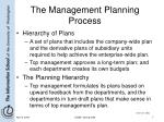 the management planning process