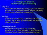 a strategic alliance for country led capacity building