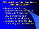 efa national action plans should contain