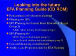 looking into the future efa planning guide cd rom