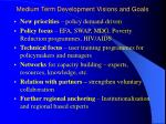 medium term development visions and goals