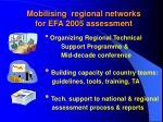 mobilising regional networks for efa 2005 assessment