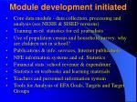 module development initiated