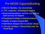 pre nesis capacitybuilding