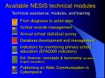 technical assistance modules and training