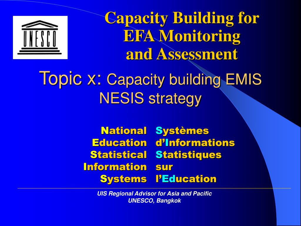 topic x capacity building emis nesis strategy l.