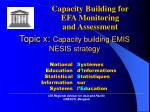 topic x capacity building emis nesis strategy