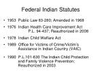 federal indian statutes