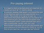 pre paying interest