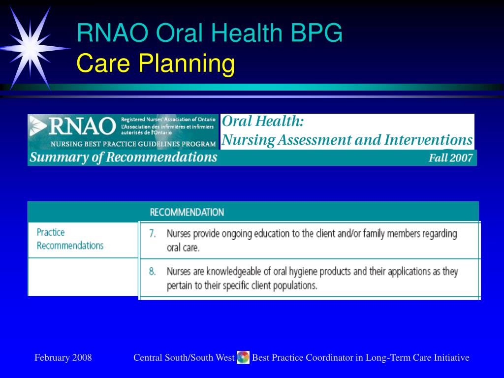 RNAO Oral Health BPG