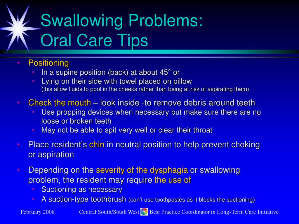 Swallowing Problems:
