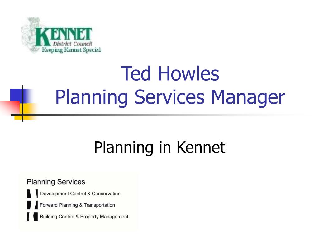 ted howles planning services manager l.