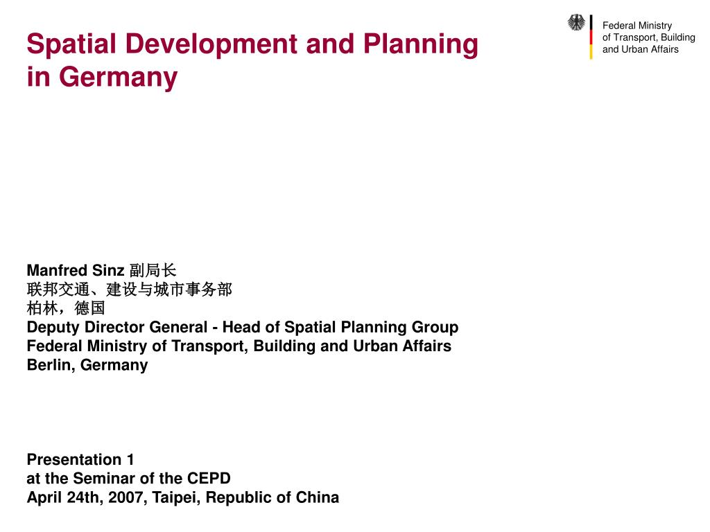 spatial development and planning in germany l.