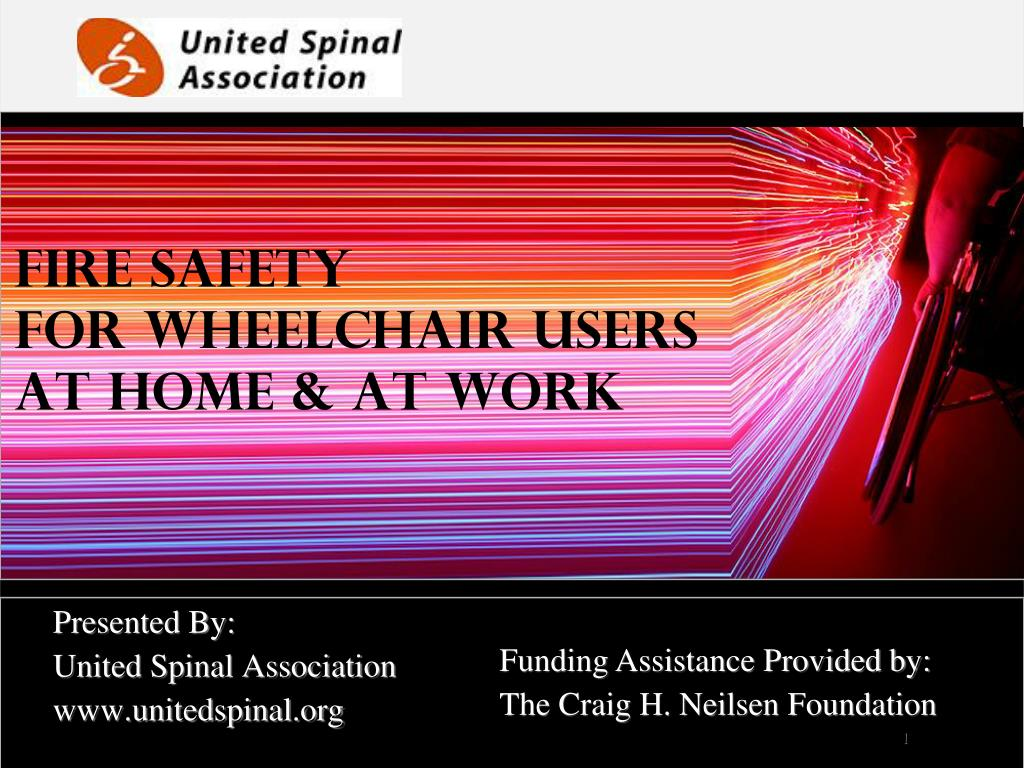 fire safety for wheelchair users at home at work l.